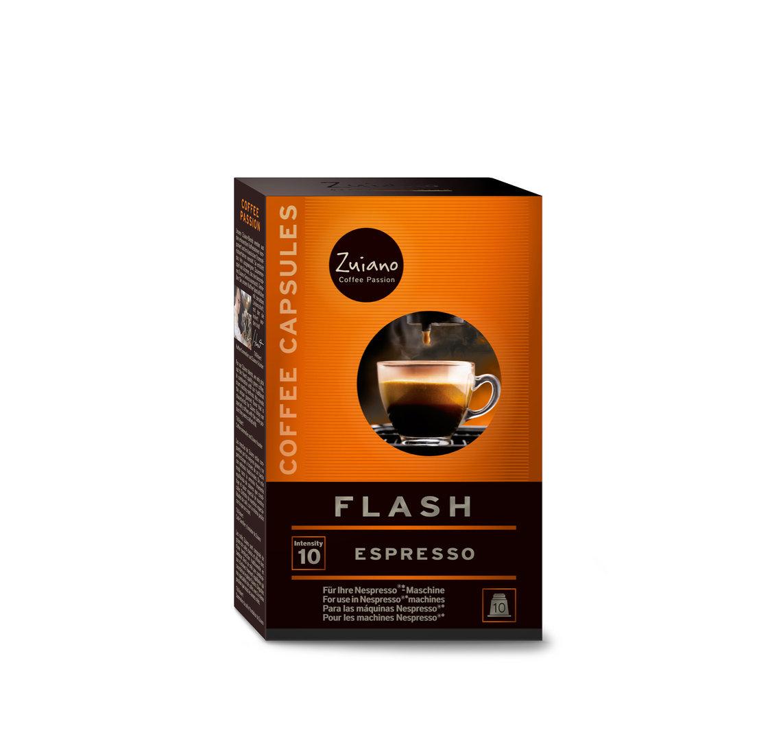 espressoonline zuiano kapseln flash. Black Bedroom Furniture Sets. Home Design Ideas