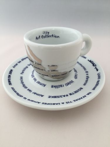 illy art collection Pistoletto Love Difference issimo-Version, 1 Tasse