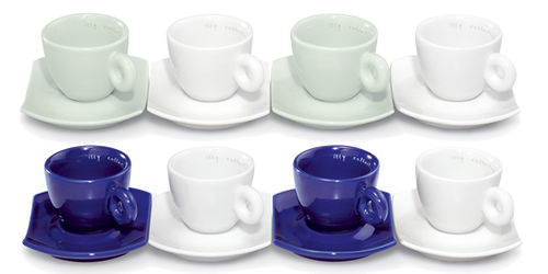illy collection 2004 Daniel Buren - Bianco Verde - Bianco Blu