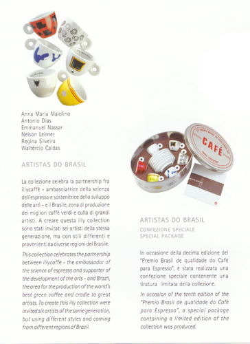 Illy collection Artistas do Brasil, Sonderedition 2001 in Blechbox