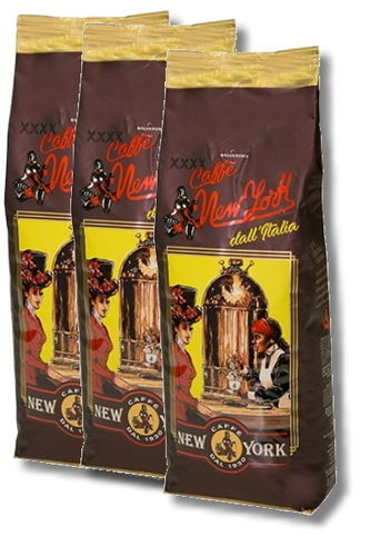 Caffè New York Extra XXXX in Bohnen, 3 x 1 kg