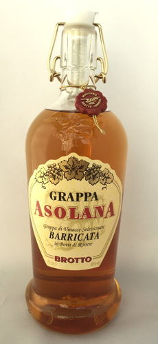 Grappa Asolana Barricata von Brotto, 40% Vol., 0,7 l