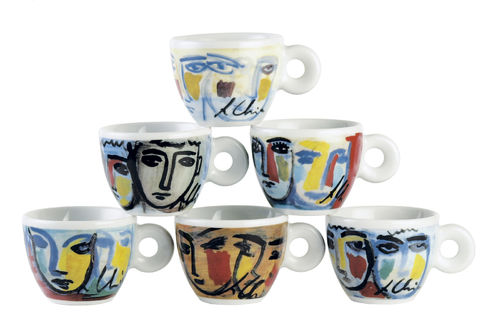 illy collection 1995 Facce Italiane, Sandro Chia (Italian Faces) Mitterteich Version